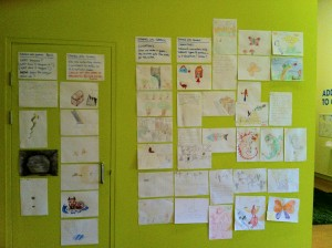 Stories into Games - the design wall